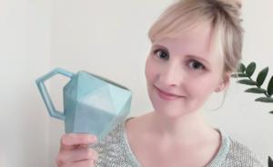 Gesicht der Becherfaktur mit 3D-Tasse (Diamantentasse)